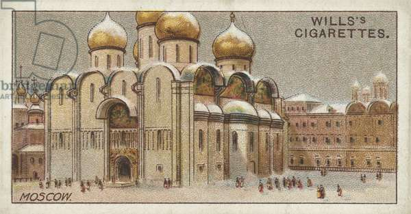 Uspenskiy Cathedral, Moscow (chromolitho)