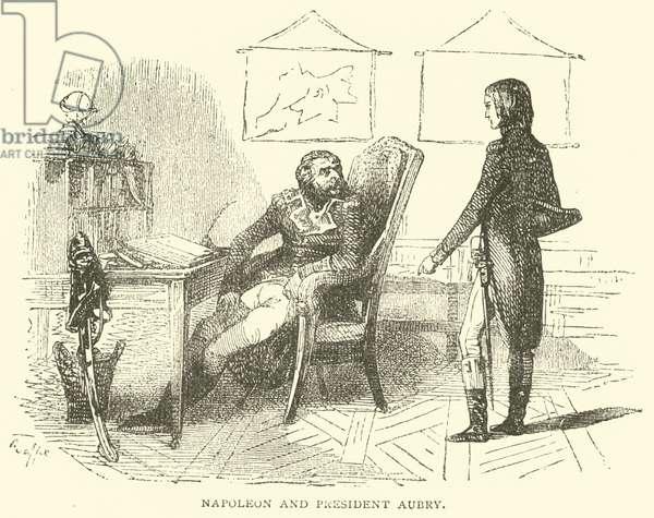 Napoleon and President Aubry (engraving)