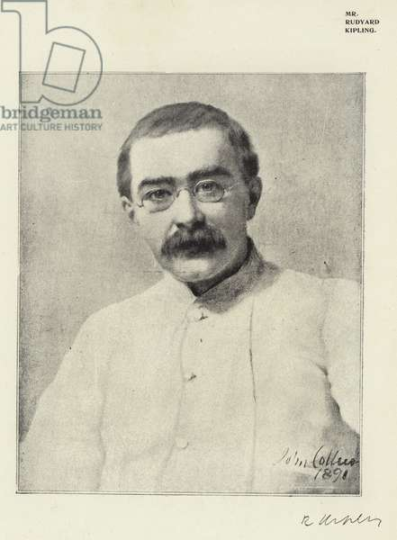 Mr Rudyard Kipling (b/w photo)