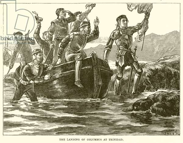 The Landing of Columbus at Trinidad (engraving)
