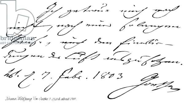 Johann Wolfgang Von Goethe, b 1749, d about 1797 (engraving)