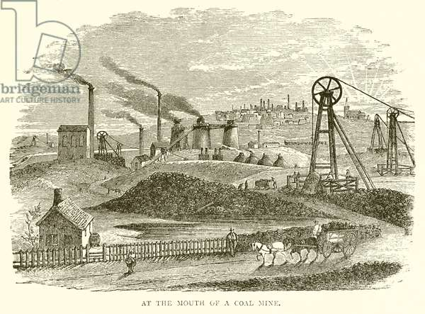 At the Mouth of a Coal Mine (engraving)