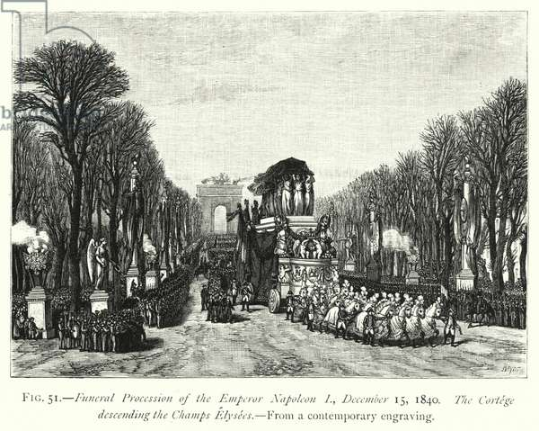 Funeral Procession of the Emperor Napoleon I, 15 December 1840 (engraving)
