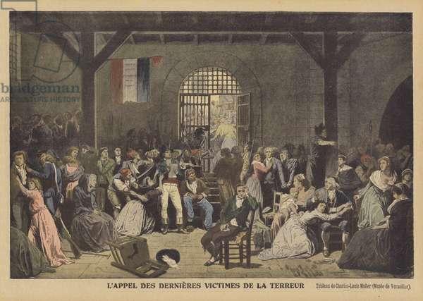Calling Out the Last Victims of the Reign of Terror at the Prison of Saint-LazareL'appel des dernieres victimes de la Terreur (colour litho)