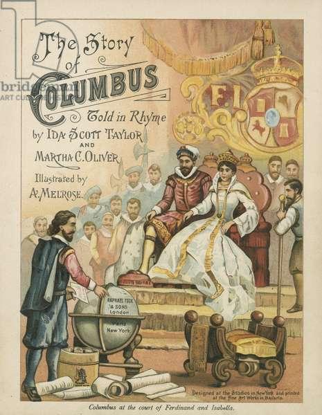 Columbus at the court of Ferdinand and Isabella (chromolitho)