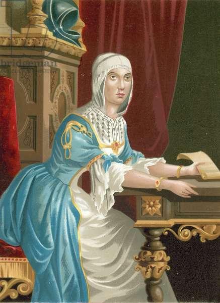 Isabella I of Castile (chromolitho)