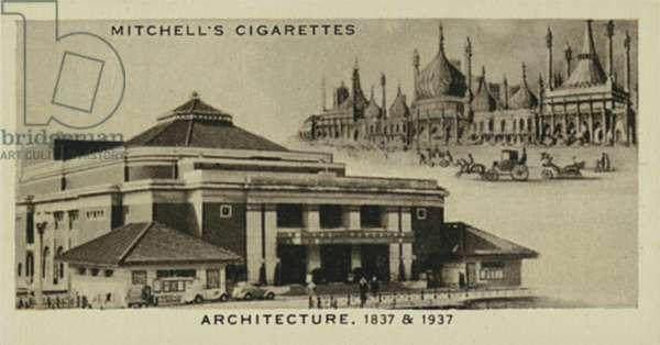 Wonderful Century, 1837-1937: Architecture, Brighton Pavilion, Bournemouth Pavilion (litho)