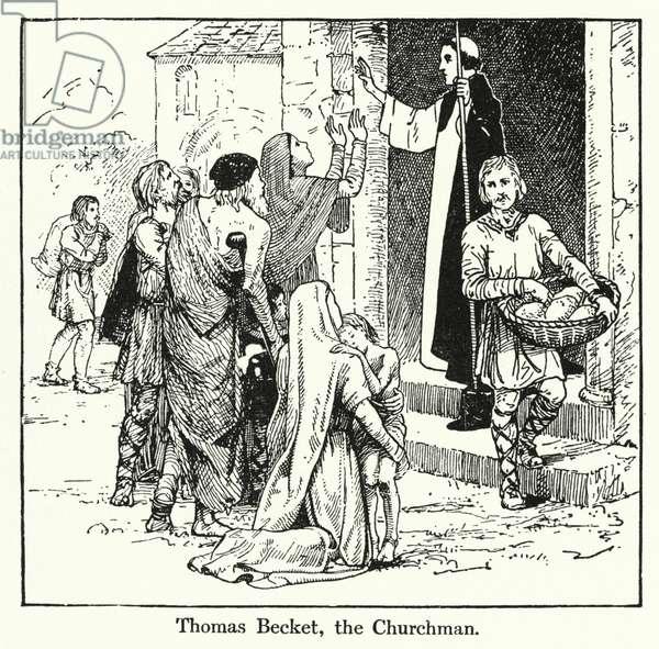 Thomas Becket, the Churchman (litho)