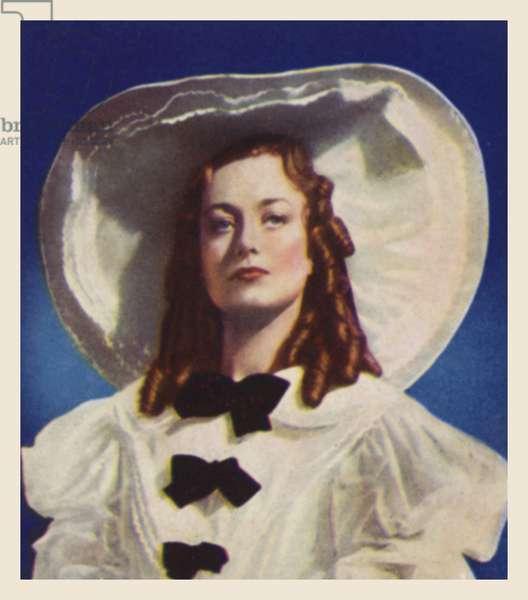 Joan Crawford, as Peggy O'Neal (colour litho)