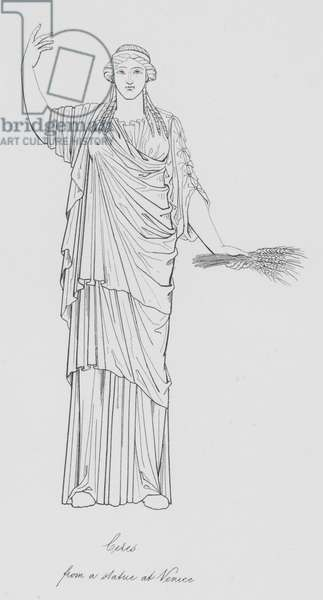Ceres, from a statue at Venice (engraving)