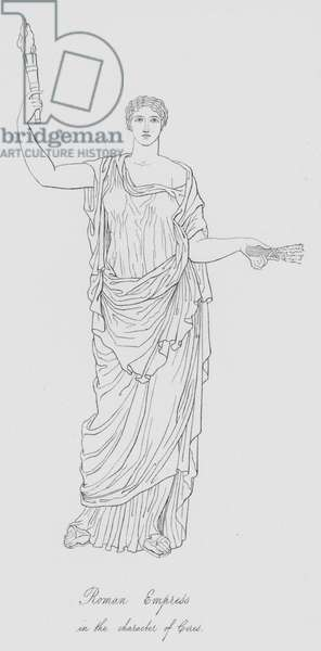 Roman Empress in the character of Ceres (engraving)