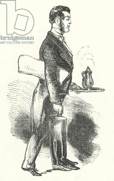 The waiter (engraving)