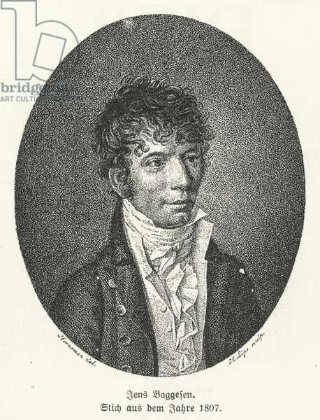 Jens Baggesen, Danish poet and comic writer, 1807 (litho)