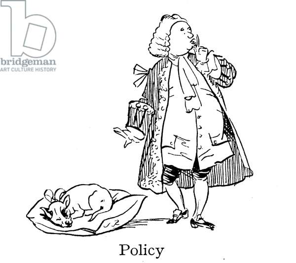 Sir Robert Walpole, Policy, Let Sleeping Dogs Lie (lithograph)