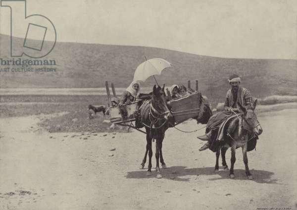 Traveling in Galilee (b/w photo)