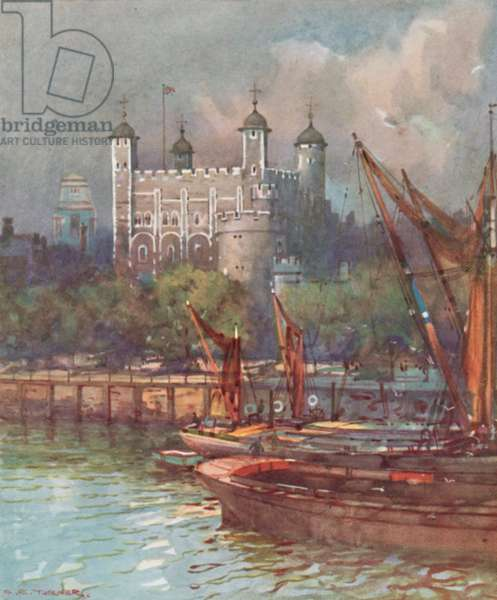 The Tower Of London (colour litho)