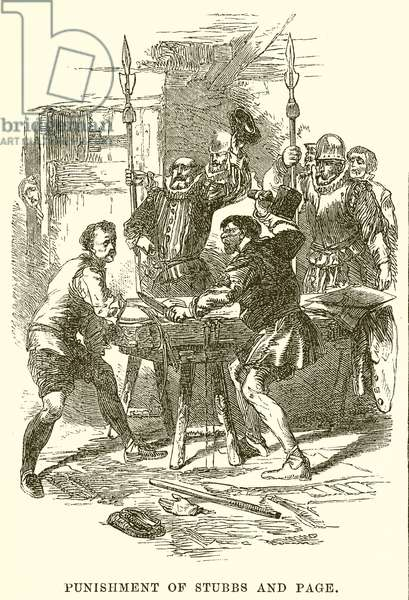Punishment of Stubbs and Page (engraving)