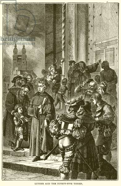 Luther and the Ninety-Five Theses (engraving)