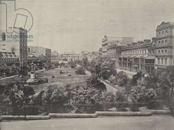 Wynyard Square (b/w photo)