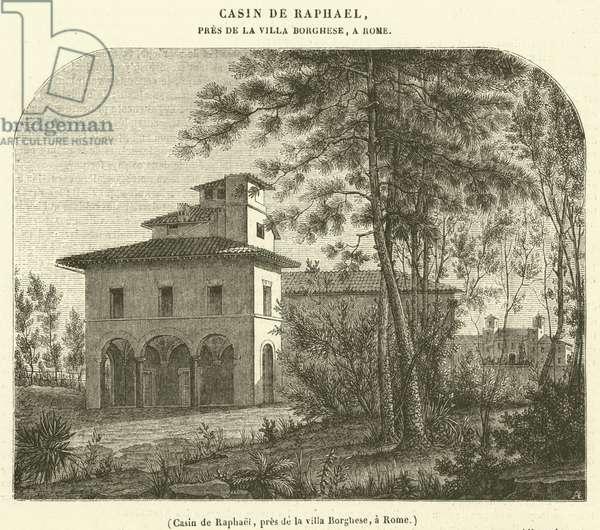 Casin de Raphael, pres de la villa Borghese, a Rome (engraving)