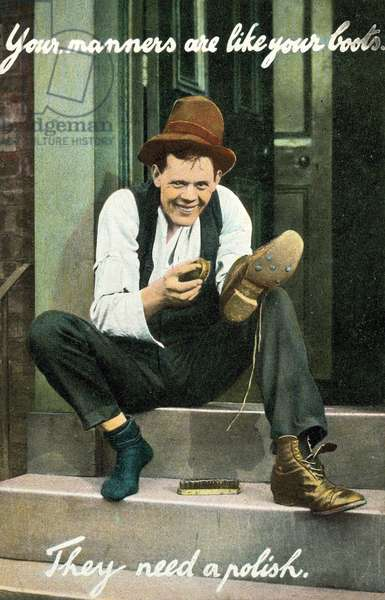 Your manners are like your boots - they need a polish (colour photo)