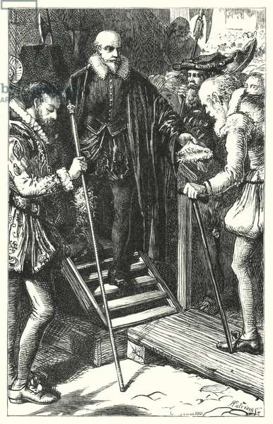 Execution of Sir Walter Raleigh (engraving)
