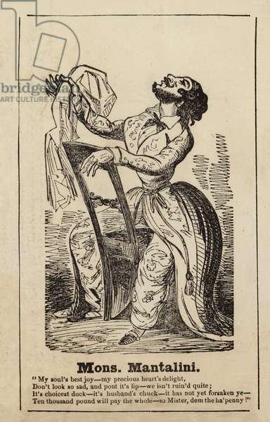 Monsieur Mantalini from Nicholas Nickleby (engraving)