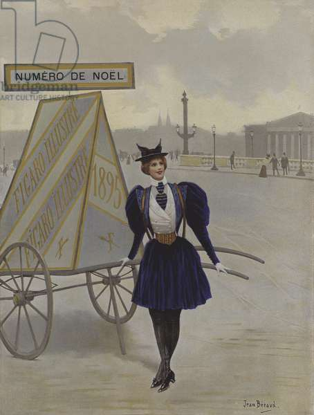 La Reclame de l'Avenir (Advertising of the Future). Cover illustration from Le Figaro Illustre, December 1895 (colour litho)