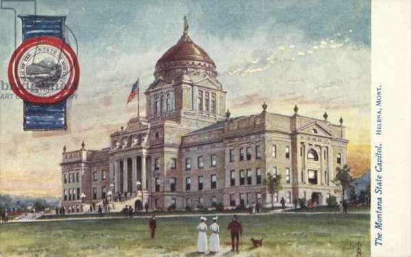 The Montana State Capitol, Helena, Montana (colour litho)