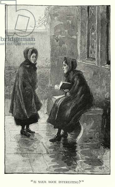 Illustration for Jane Eyre by Charlotte Bronte (engraving)