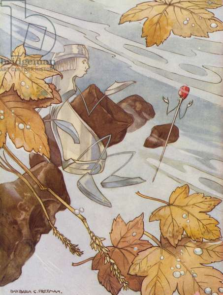 Hans Christian Andersen story: The Darning Needle (colour litho)