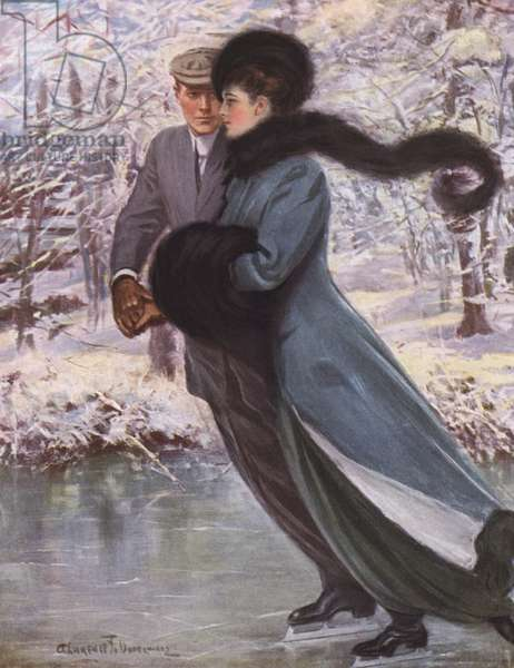 Love laughs at winter (colour litho)