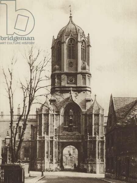 Tom Tower, Christ Church (b/w photo)