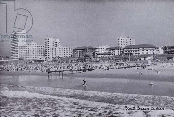 South Beach, Durban (b/w photo)