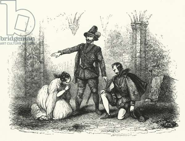 Illustration for Les Huguenots by Giacomo Meyerbeer (engraving)