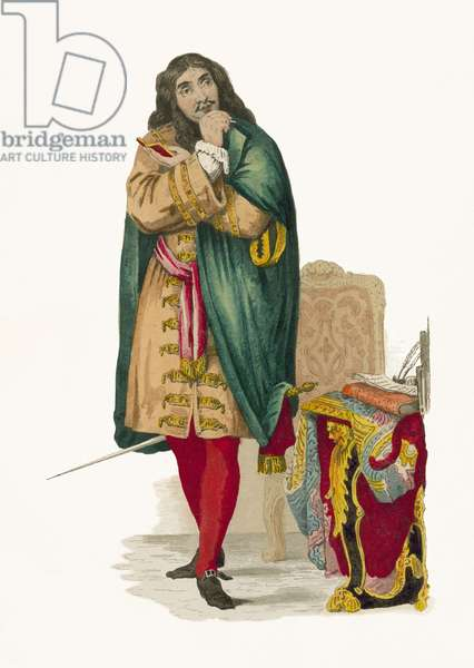 Moliere (coloured engraving)