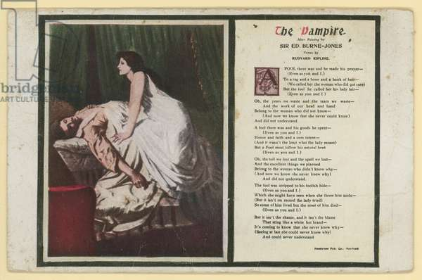 The Vampire by Rudyard Kipling (colour litho)