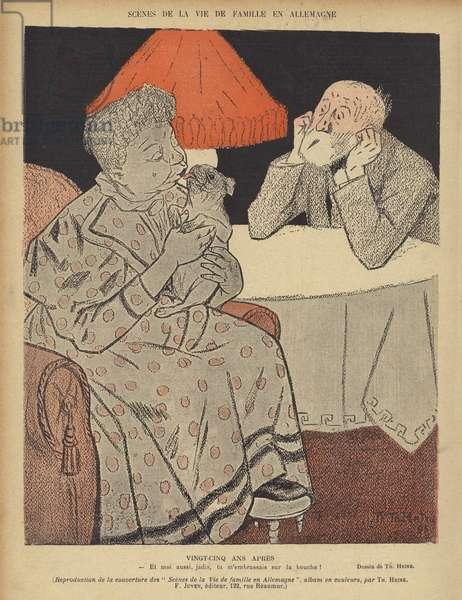 Illustration for Le Rire (colour litho)