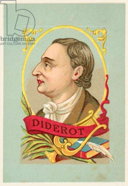 Denis Diderot, French philosopher and writer (chromolitho)