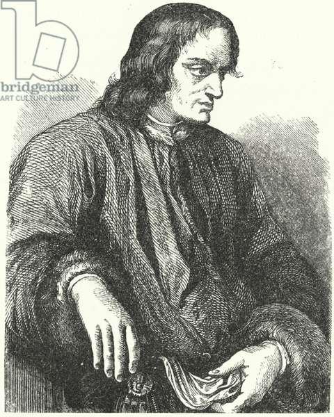 Lorenzo de' Medici, Italian politician and patron of the Renaissance (engraving)