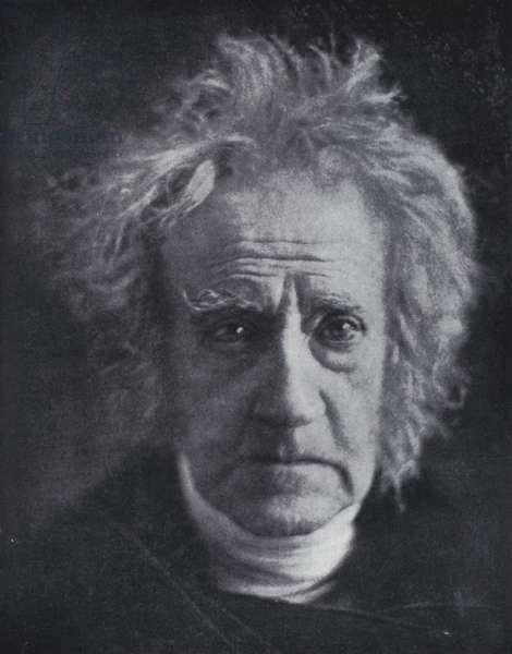 Sir John Frederick William Herschel, astronomer and physicist (b/w photo)