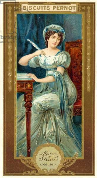Madame de Stael, French writer (chromolitho)