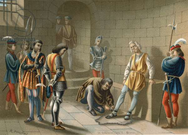 Columbus chained under the orders of Bobadilla