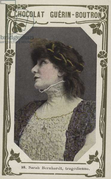 Sarah Bernhardt, tragedienne (coloured photo)