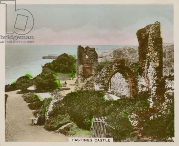 Hastings Castle (coloured photo)
