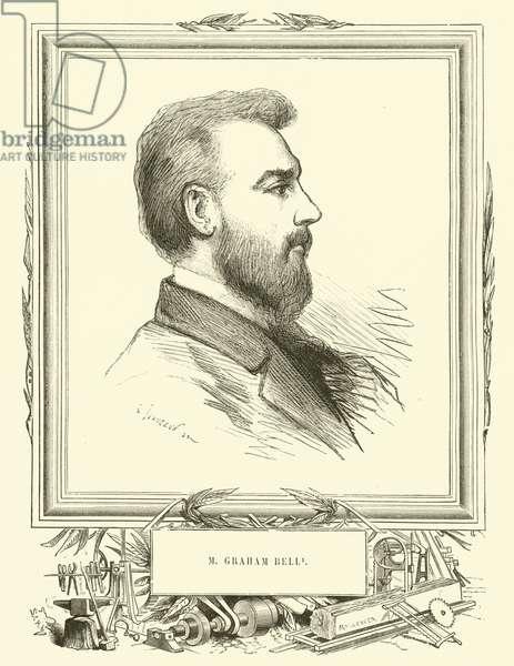 M Graham Bell (engraving)