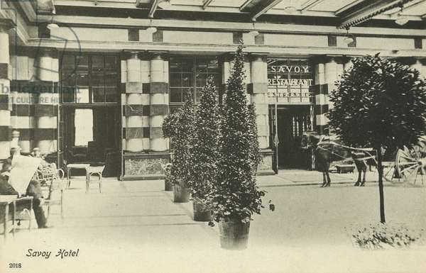 Savoy Hotel, London (b/w photo)