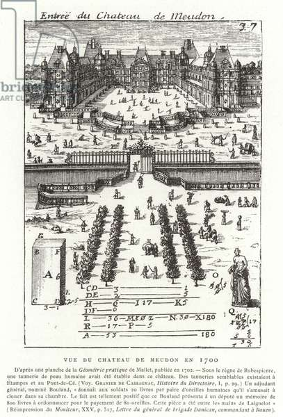 View of the Chateau de Meudon in 1700 (engraving)