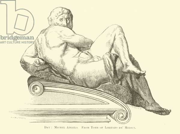 Day, Michel Angelo, from Tomb of Lorenzo de' Medici (engraving)
