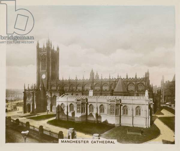 Manchester Cathedral (coloured photo)